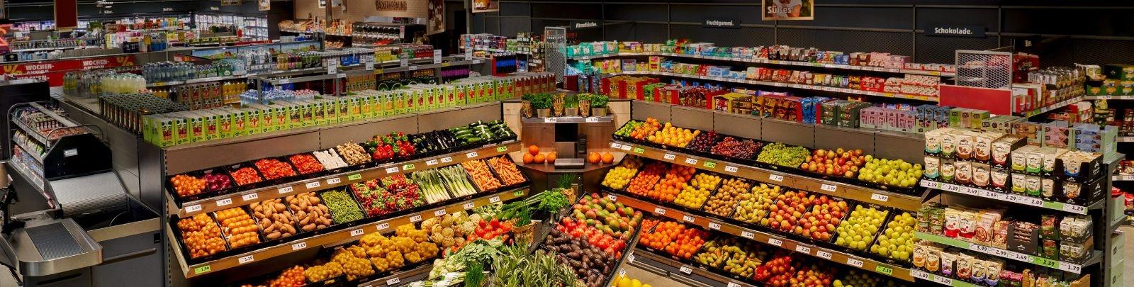Obst- & Gemüseabteilung eines PENNYs mit neuem Marktkonzept