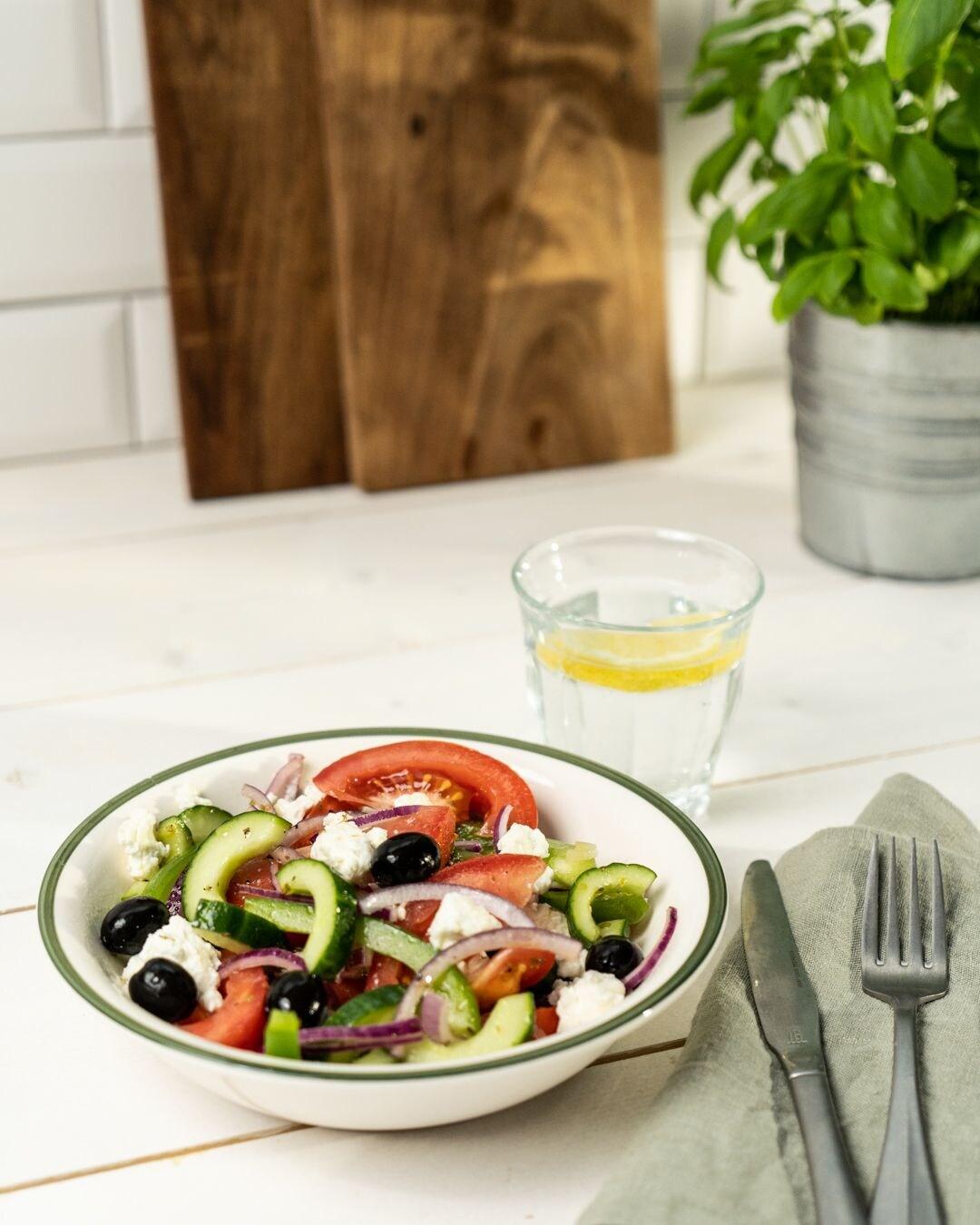 Auf diesem Bild siehst du unseren fertigen Griechischen Salat.