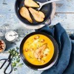 Kürbis-Birnen-Cremesuppe